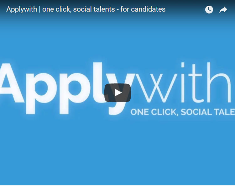 Applywith: the new solution to ease  your recruitment in one click